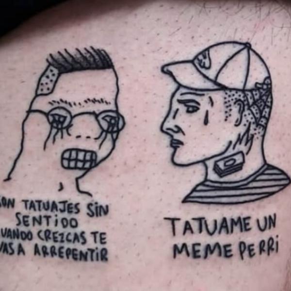 Personas con tatuajes de memes extintos nos cuentan por qué no se arrepienten de nada